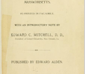 History of the Early Settlement of Bridgewater in Plymouth County, Massachusetts